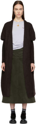 Acne Studios Brown Mohair Long Raya Cardigan