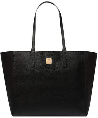 MCM Wandel Medium Leather Shopper Tote Bag