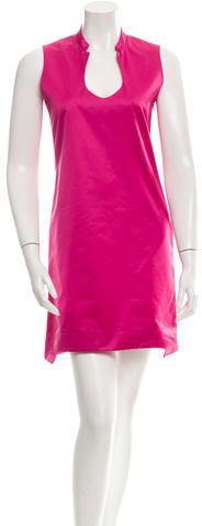 Saint LaurentYves Saint Laurent Satin Sleeveless Dress