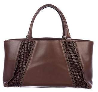 Bottega Veneta Leather Grommet Tote