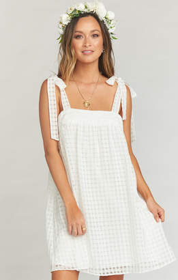 Show Me Your Mumu Cleo Tie Top Dress ~ Charmed and Checkered Ivory
