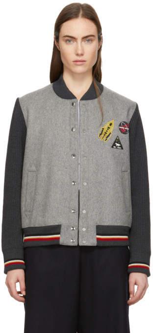 Grey Wool Teddy Jacket