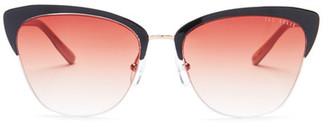 Ted Baker London Women's Half Rim Cat Eye Sunglasses $149 thestylecure.com