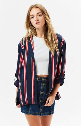 MinkPink Nautica Striped Blazer
