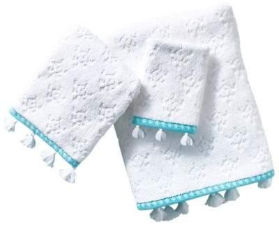 Jade Tip Towel in Aqua