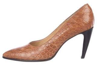 Walter Steiger Embossed Leather Pumps