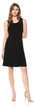 Lark & Ro Women's Sleeveless Crewneck Fit and Flare Dress