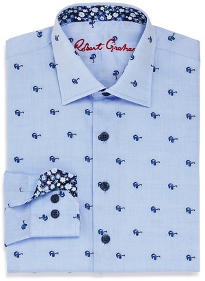 Robert Graham Boys' Tareck Sunglasses Print Dress Shirt - Big Kid $79.50 thestylecure.com