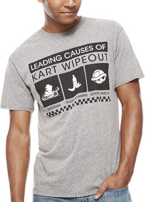 Nintendo Novelty T-Shirts Kart Crashes Graphic Tee