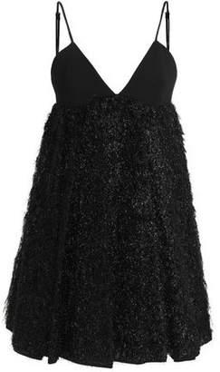 Milly Tinseled Crepe Mini Dress