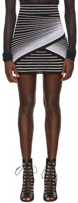 Balmain Black and White Optic Illusion Miniskirt