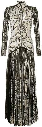 Roberto Cavalli lynx print long dress
