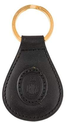 Mark Cross Leather Embossed Keychain