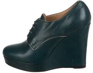 Longchamp Derby Balzane Leather Platform Booties