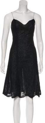 Rochas Embroidered Lace Dress