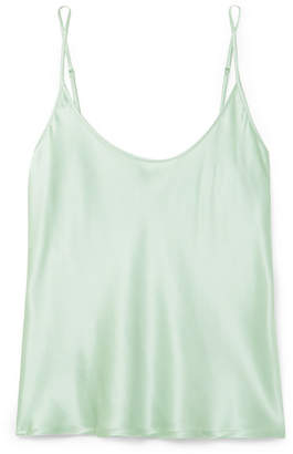 La Perla Silk-satin Camisole - Mint
