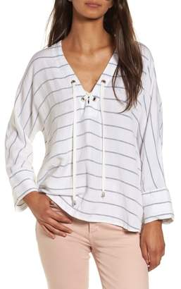 Rails Lily Lace-Up Blouse