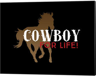Cowboy For Life By Tina Lavoie Canvas Art