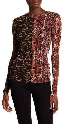 Petit Pois Long Sleeve Floral Semi Sheer Top
