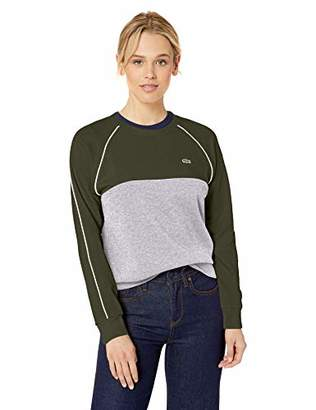 Lacoste Women's L/S Color Block Crewneck Sweatshirt