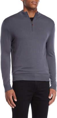 Br.Uno Ferraro Merino Wool Quarter-Zip Pullover