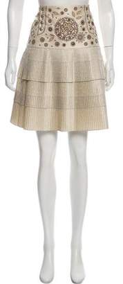 Christian Dior Knee-Length Pleated Skirt
