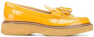 Tod's patent platform loafers