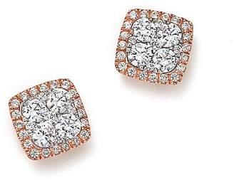 Bloomingdale's Diamond Cluster Stud Earrings in 14K Rose Gold, 1.0 ct. t.w. - 100% Exclusive