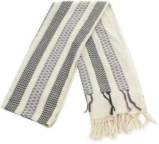 Becksöndergaard W-hasnaa Tassle Trim Cotton Scarf