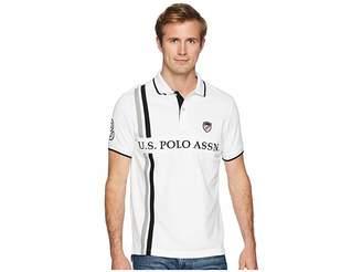 U.S. Polo Assn. Slim Fit USPA Patch Vertical Stripe Polo-88 Men's Short Sleeve Knit