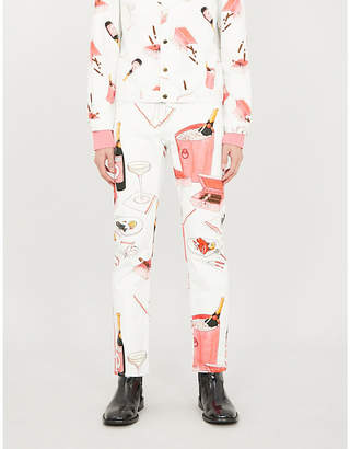 Casablanca Graphic-print tapered jeans