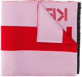 Kenzo logo print scarf