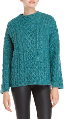 Milly Cable Knit Wool Sweater