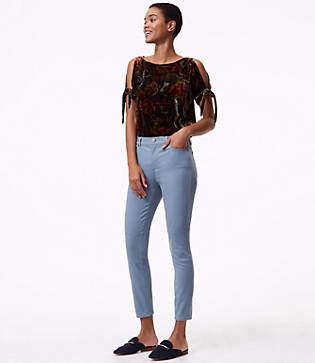 LOFT Tall Leggings in Back Zip Sateen Five Pocket in Marisa Fit
