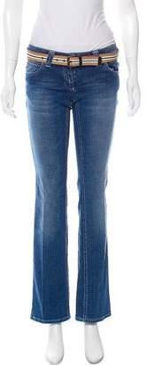 Burberry Low-Rise Straight-Leg Jeans w/ Belt