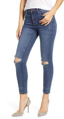 PROSPERITY DENIM Ripped High Waist Skinny Jeans