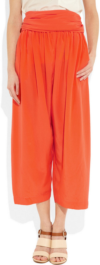 3.1 Phillip Lim Silk crepe de chine wide-leg gaucho pants