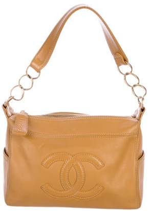 Chanel CC Ring Chain Shoulder Bag Tan CC Ring Chain Shoulder Bag