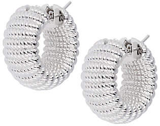 Arte d'Oro Ribbed Hoop Earrings, 18K