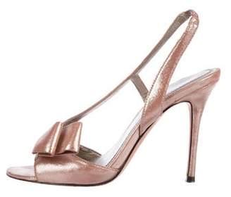 Jean-Michel Cazabat Bow Slingback Sandals