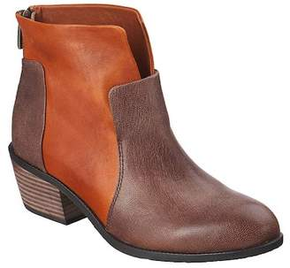 Antelope Colorblock Leather Bootie
