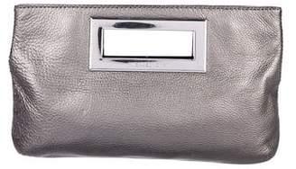 MICHAEL Michael Kors Metallic Leather Berkley Clutch
