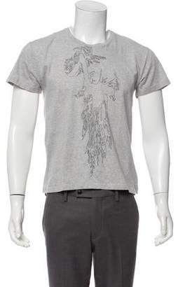 Christian Dior 2008 Woven Graphic T-Shirt w/ Tags