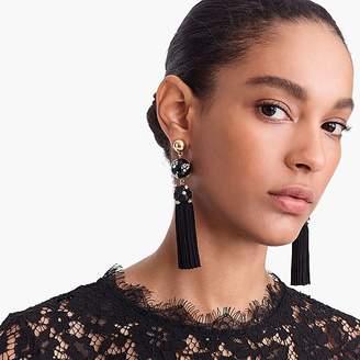 J.Crew Crystal-studded bead and tassel earrings