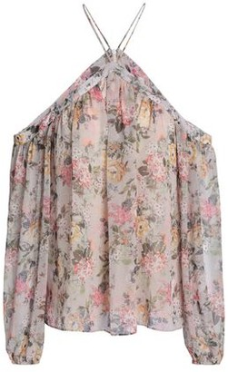 Bailey 44 Cold-Shoulder Floral-Print Georgette Top