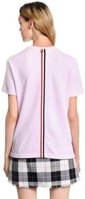 Thom Browne Back Stripe Cotton Piqué T-Shirt