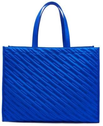 Balenciaga Market Shopper M Logo Canvas Tote - Mens - Blue
