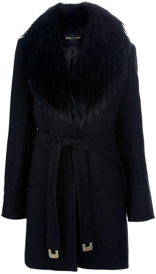 Diane Von Furstenberg 'VICTORIA' Jacket With Fur Collar