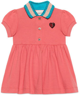 Baby dress with heart appliqué $235 thestylecure.com
