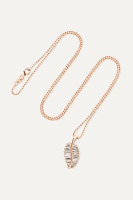 Anita Ko Palm Leaf 18-karat Rose Gold Diamond Necklace